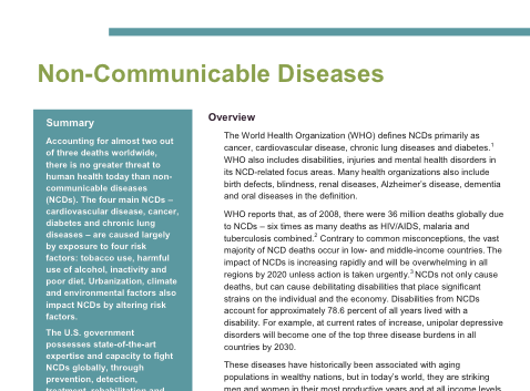 NCDs in Brief