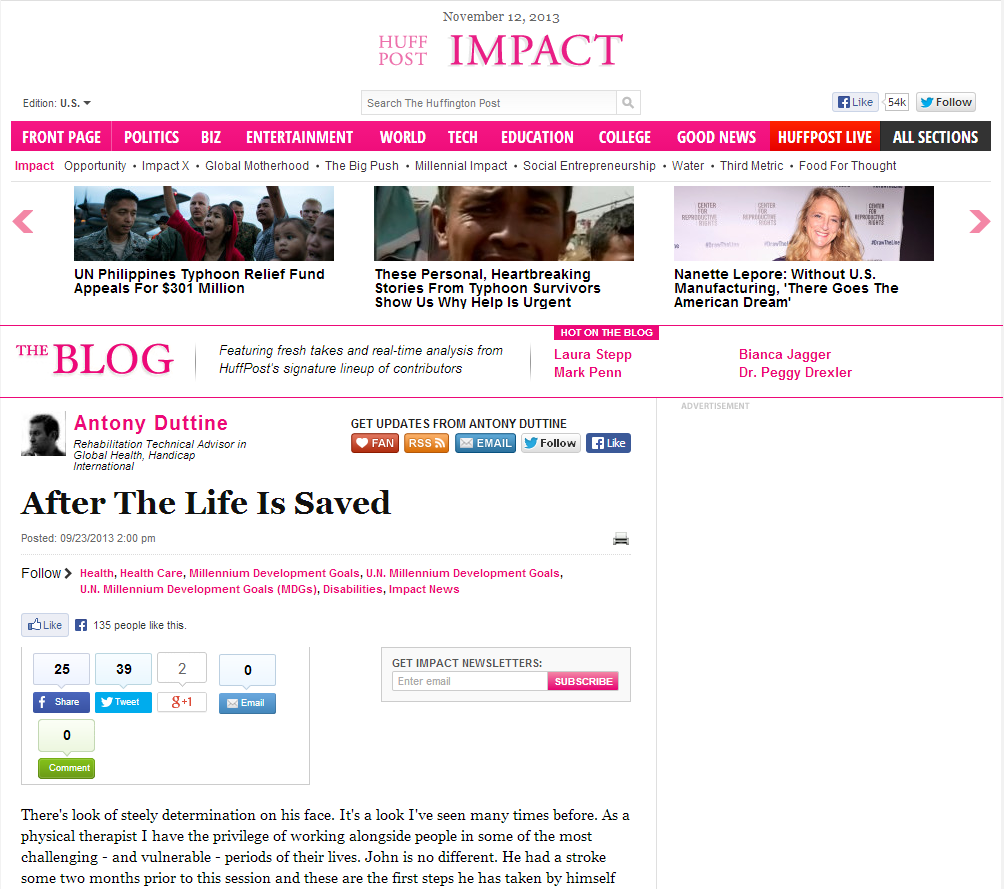 "Handicap International: ""After the Life is Saved"" via The Huffington Post"