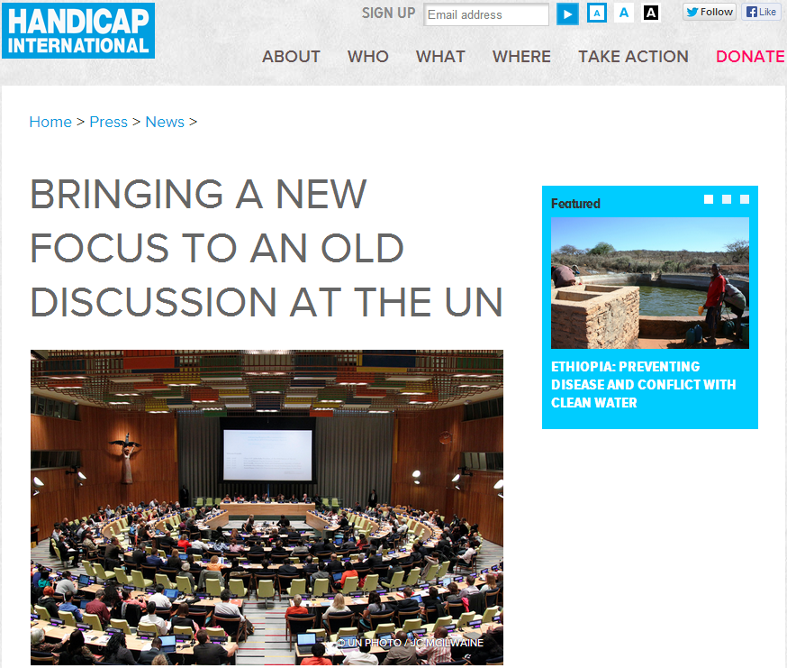 Handicap International: Bringing a New Focus to an Old Discussion at the UN