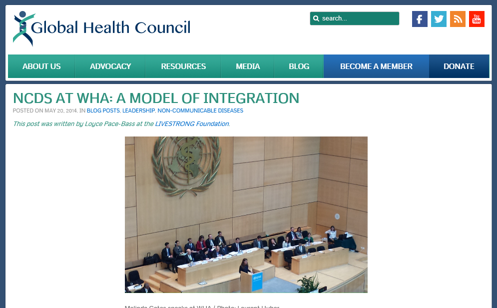 NCDs Integrated into the World Health Assembly